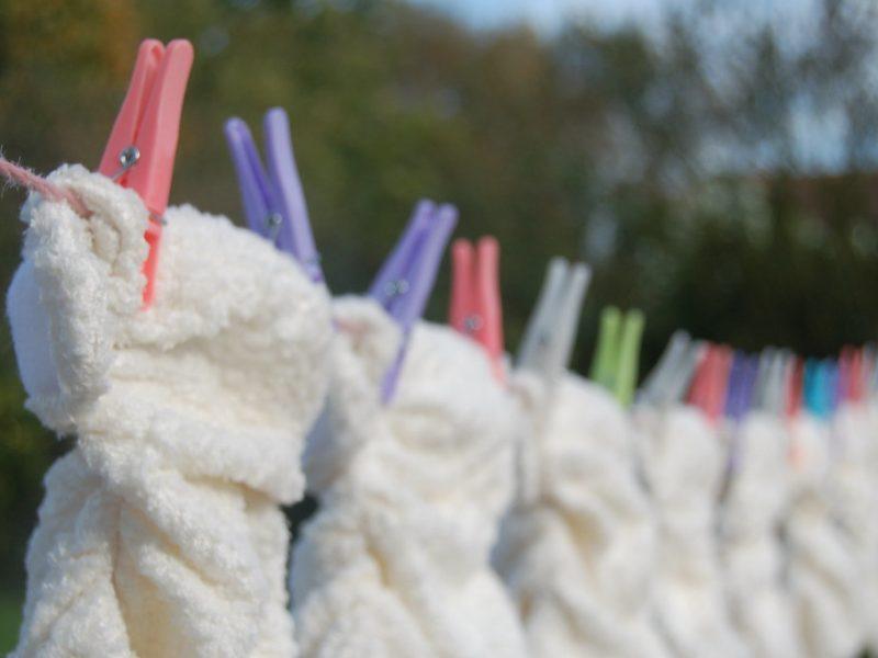 Lavado de pañales de tela